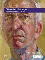 Oil Portraits in Five Stages DVD with Andrew James RP NEAC