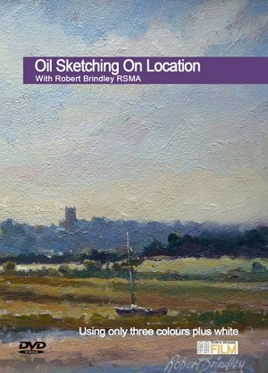Robert Brindley Oil Sketching on Location